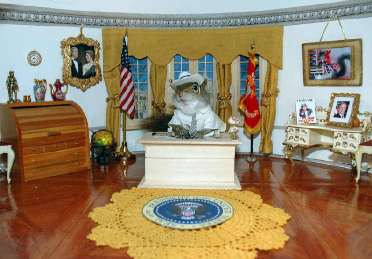 W at his desk in the oval office