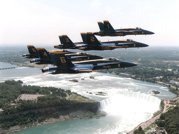 The Blue Angels over Niagara Falls