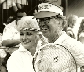 Kelly with Bobby Riggs
